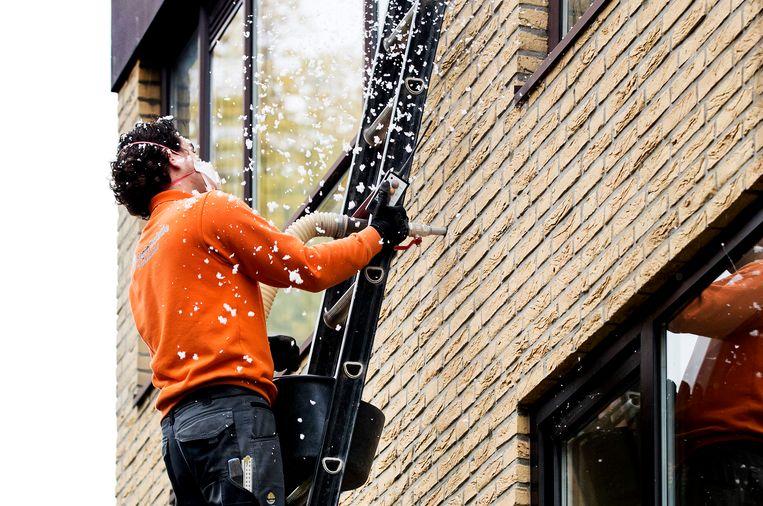 Woningen in Rijswijk worden geïsoleerd. Beeld ANP