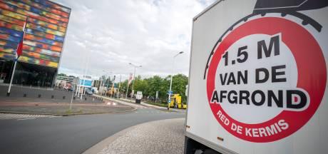 Actie kermisexploitanten op Mediapark Hilversum