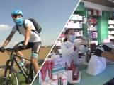 Astana-renner Martinelli brengt per fiets medicijnen rond