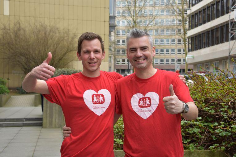 Michael De Leener en Kris Vander Gracht lopen op 19 mei de 20 kilometer van Brussel voor het goede doel.