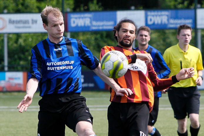 Spelmoment FC Zutphen-Orderbos. het werd 1-5