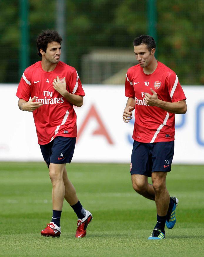 Cesc Fàbregas en Robin van Persie.