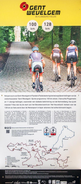 De kaart vab de vernieuwde wielerroute 'Gent-Wevelgem in Flanders Fields' kost twee euro.