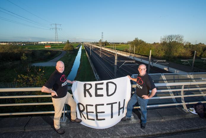 Inwoners van Reeth voeren actie.