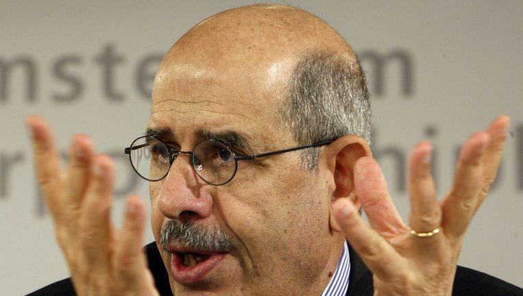 Mohamed El-Baradei vindt de paniek rondom de nucleaire dreiging overdreven. Foto GPD Beeld
