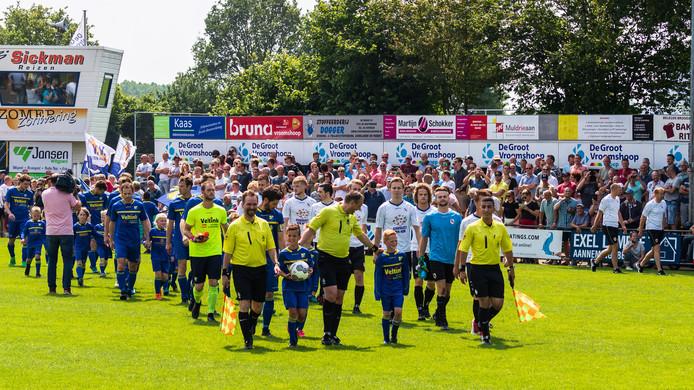 De derby Vroomshoopse Boys - Den Ham in de nacompetitie van 2018. Foto Marcel ter Bals