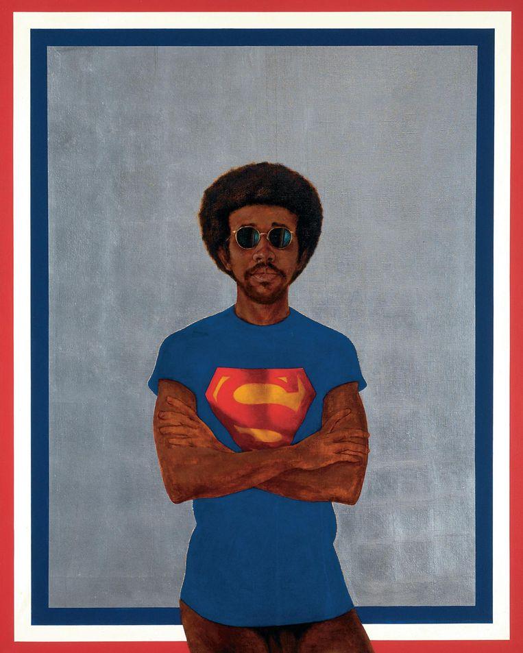 Icon for My Man Superman (Superman Never Saved Any Black People Bobby Seale) (1969) van Barkley L. Hendricks. Beeld Foto: Jack Shainman Gallery, New York
