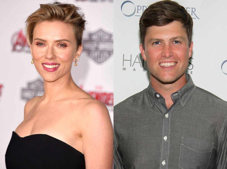 Scarlett Johansson en haar nieuwe vriend Colin Jost