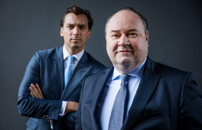 Forum voor Democratie-leider Thierry Baudet en Henk Otten, lijsttrekker voor de Eerste Kamer van de partij.