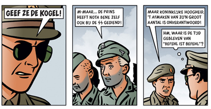 Een fragment uit de strip 'Agent Orange'