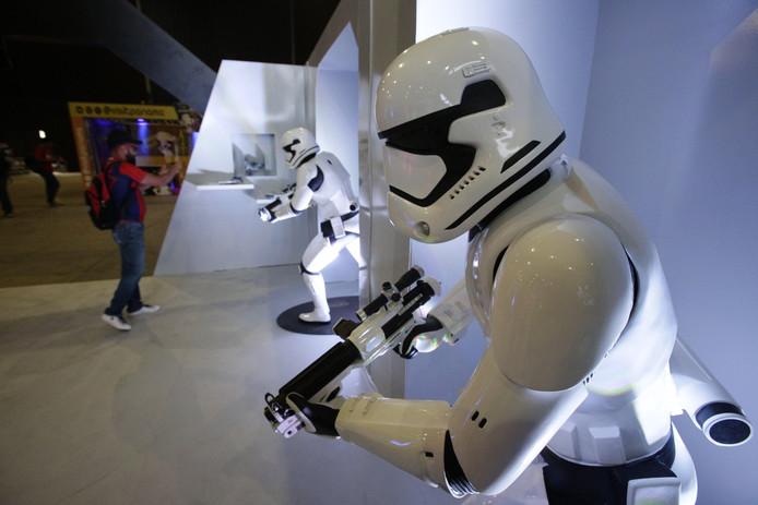 Wie vanmiddag naar winkelcentrum Nova gaat, komt Star Wars tegen