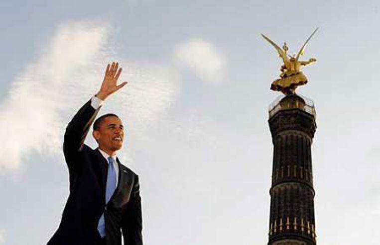 Europa en de Verenigde Staten moeten weer samenkomen, dat was de kern van de toespraak van Obama in Berlijn. Foto EPA/Gero Breloer Beeld