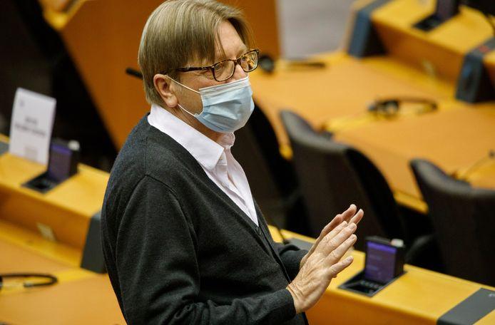 Guy Verhofstadt in het Europees Parlement (archiefbeeld).