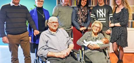 Baby Lauran uit Zeeland heeft grootouders, overgrootouders én betovergrootouders