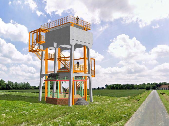 Een conceptbeeld van hoe de installatie er zou kunnen uitzien.