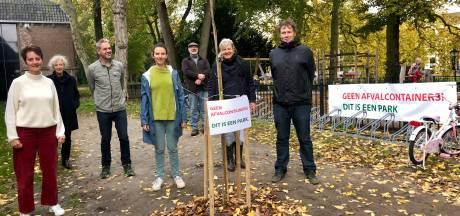Buurt plant boom als protest tegen komst afvalcontainers in monumentaal Zocherpark