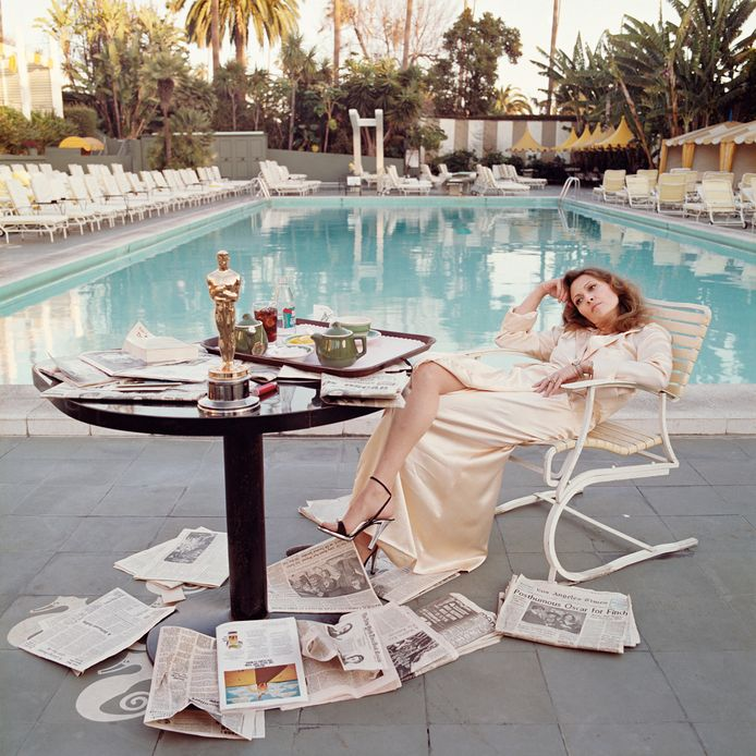 Faye Dunaway in Los Angeles in 1977.