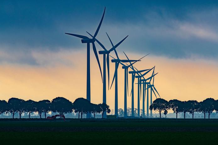 Windmolens bij Swifterbant.