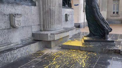 Vandalen slaan tweede keer toe aan standbeeld Drie Gapers
