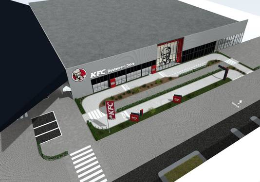 Impressie van de Kentucky Fried Chicken