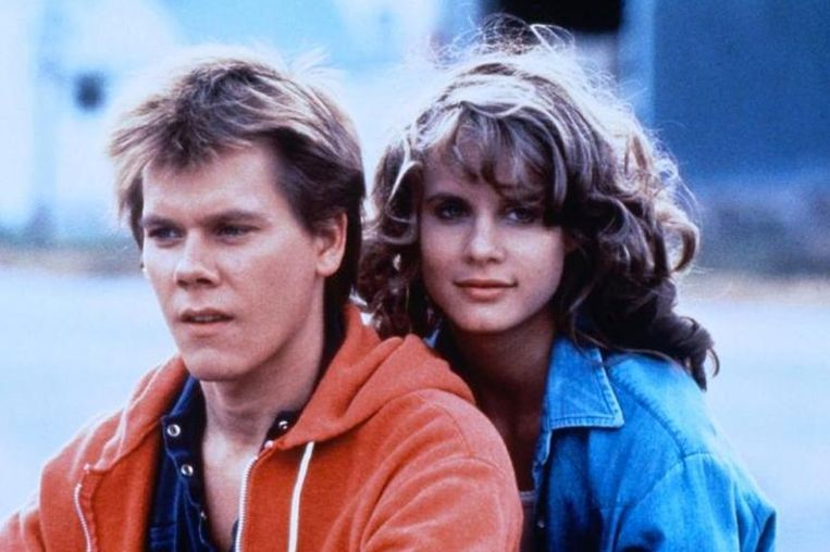 Kevin Bacon en Lori Singer in 'Footloose'.