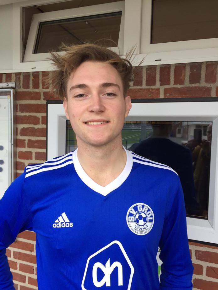 Luc Berentsen scoorde tweemaal voor Grol.