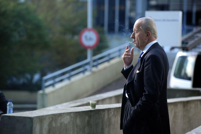 Advocaat Theo Hiddema bij de rechtbank in Amsterdam. Beeld null