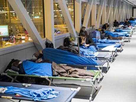Drukte op Schiphol door nasleep winterweer