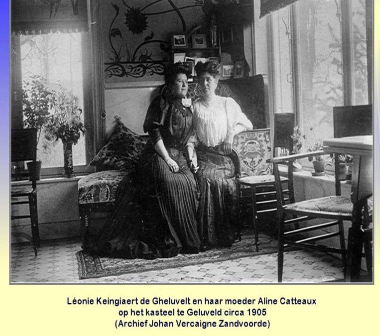 Léonie Keingiaert de Gheluvelt en haar moeder Aline Catteaux.