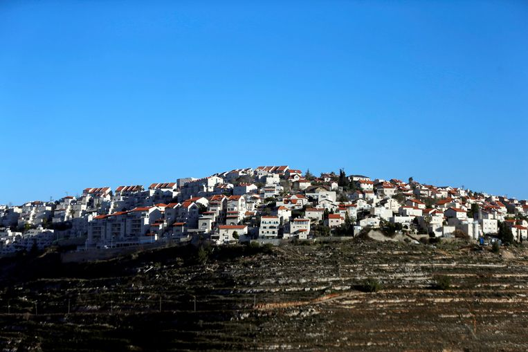 De Israëlische nederzetting Givat Ze'ev op de Westelijke Jordaanoever.