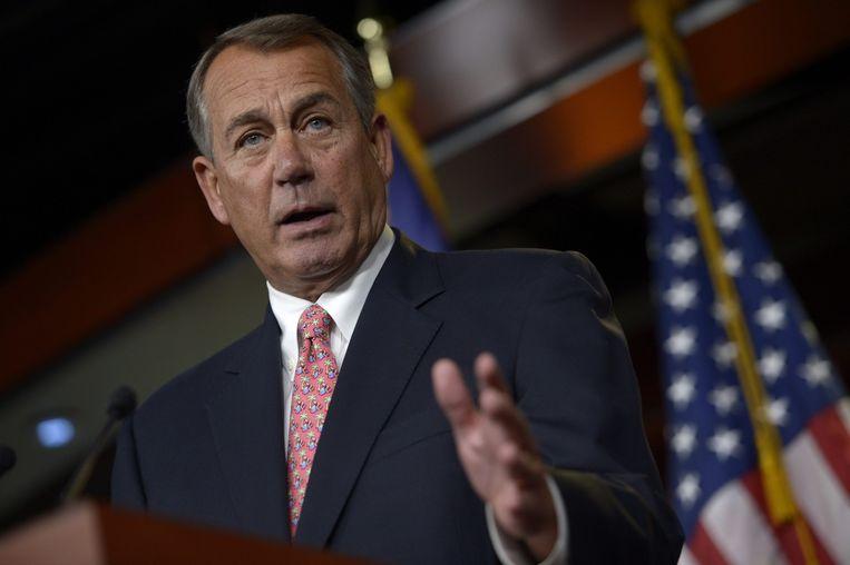 Belangrijke leiders in Washington van de Republikeinen, zoals John Boehner, hebben hun steun uitgesproken voor Scalise. Beeld epa