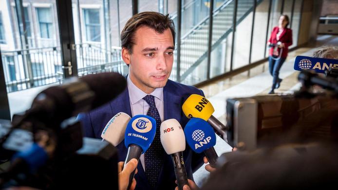 Thierry Baudet (Forum voor Democratie) tijdens het wekelijkse vragenuur in de Tweede Kamer