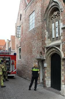 Brandweer rukt uit voor geknalde tl-buis in centrum Middelburg