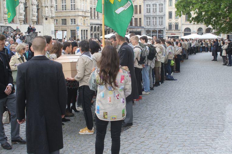 Scouts Diependaal nemen in Leuven afscheid van Ijverige Bij