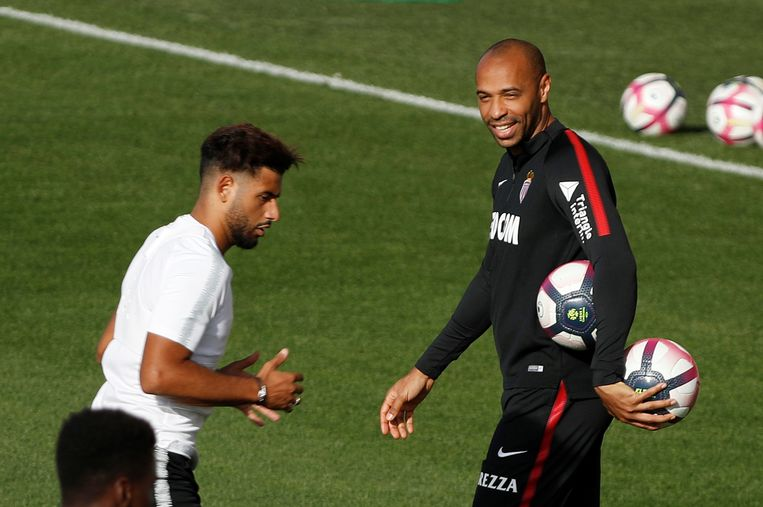 Thierry Henry (rechts) Beeld REUTERS