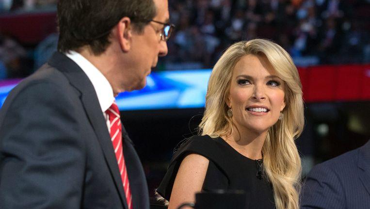 Megyn Kelly begin deze maand tijdens het eerste debat met de Republikeinse presidentskandidaten. Sindsdien is het oorlog tussen Trump en Kelly. Beeld ap