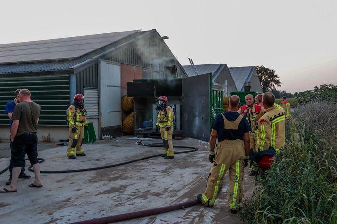 Brand bij kippenstal in Hoogeloon