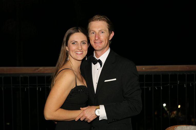 Michael met zijn vrouw.