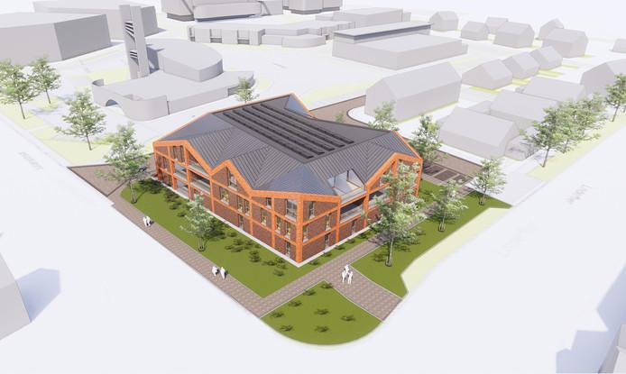 Het winnende ontwerp voor het appartementencomplex in Vroomshoop van Building Design Architectuur uit Borne.
