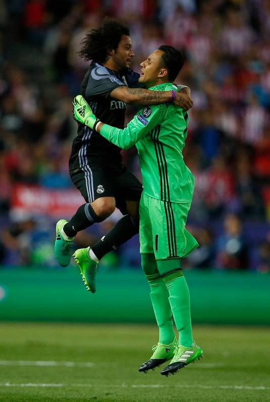 Marcelo en Navas in betere tijden, onder het bewind van coach Zinedine Zidane.