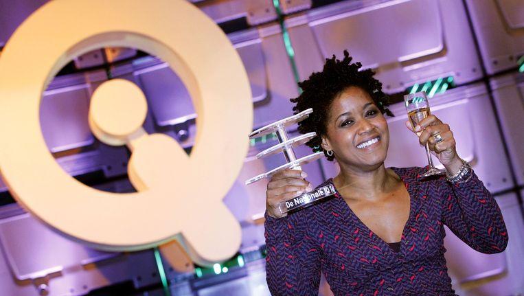 Presentatrice Dolores Leeuwin won met een iq van 159 BNN's De nationale IQ-test van 2012. Beeld anp
