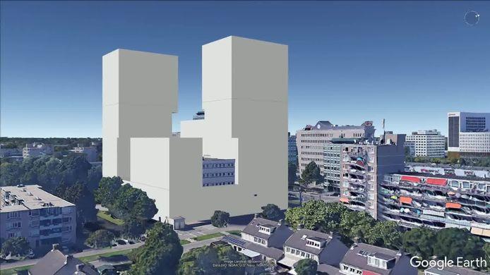 Zo zou de hoogbouw aan de Hoofdweg in Rotterdam-Oosterflank eruit kunnen gaan zien, aldus de bewoners.