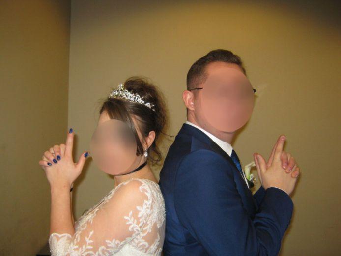 Mike G en Kristel A bij hun huwelijk.