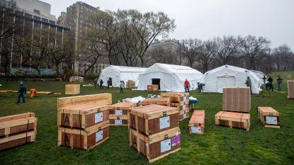 IN BEELD. Nu zelfs een noodhospitaal in wereldberoemd Central Park in New York