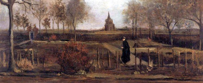 Het schilderij Lentetuin van Vincent van Gogh.