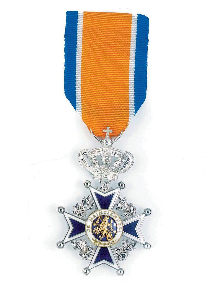 Onderscheiding Ridder in de Orde van Oranje-Nassau.
