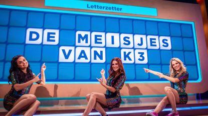 Niet één, maar drie letterzetters: Marthe, Hanne en Klaasje van K3 in 'Het Rad'