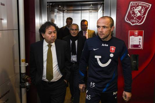 Joop Munsterman (links) met Alfred Schreuder.