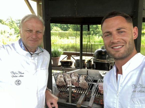 Felix en zoon Levi openen een pop-uprestaurant waarbij de gasten de koks aan het werk kan zien in het barbecuehuisje.