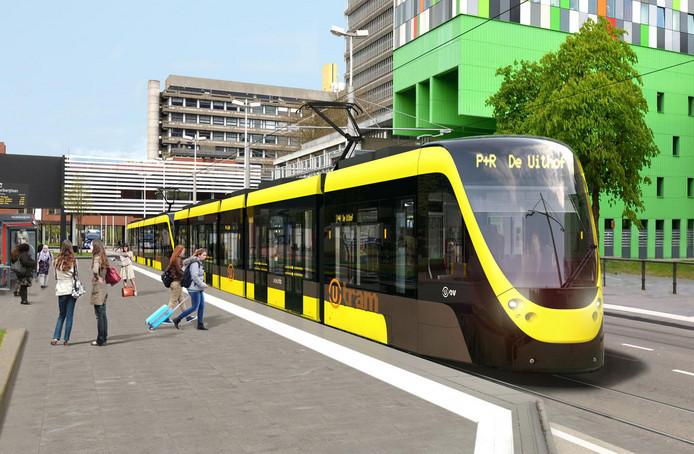 In de tweede helft van 2019 gaat de Uithoflijn gedeeltelijk rijden tussen Vaarsche Rijn en P+R De Uithof.